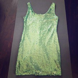 Rue21 turquoise sequins mini dress